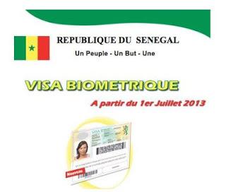 Visa pour le Sénégal